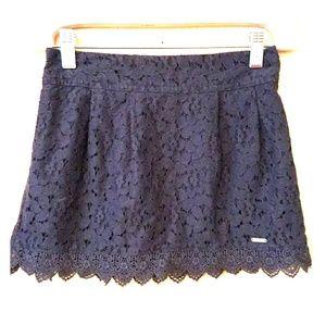 abercrombie kids Bottoms - Host Pick! Abercrombie Kids Navy eyelet lace skirt